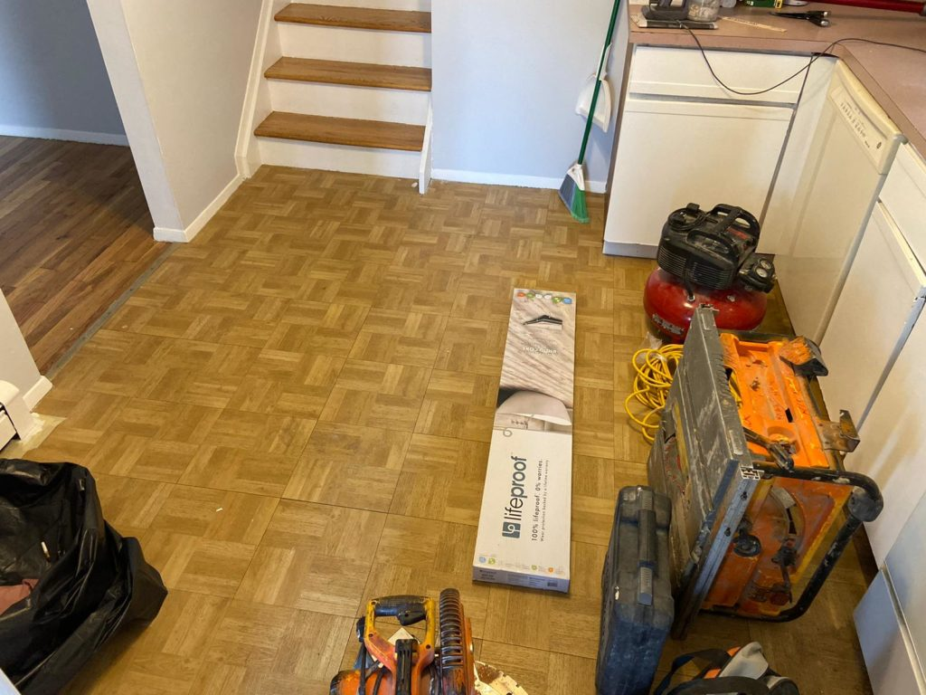 Garden City wood floor project