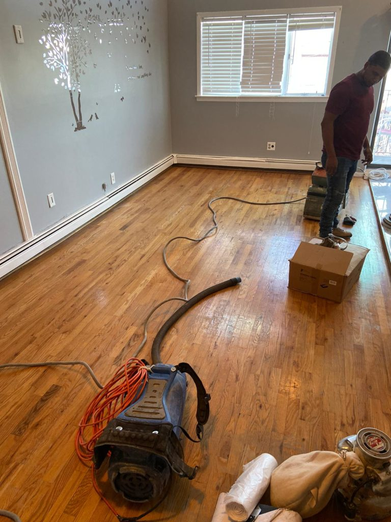 Elmont Long Island wood floor project